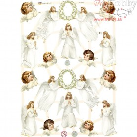 Vintage Die-Cuts, sheet 16,5x23,5 cm, angels, 3sheets