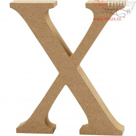 Letter, X, H: 13 cm, thickness 2 cm, MDF, 1pc