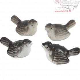 Small Animals, H: 18 mm, sparrows, 4pcs