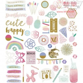 Gift Tags, size 5-115 mm,  120 g, optimism, 118pcs
