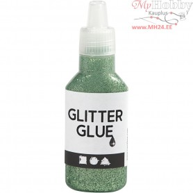 Glitter Glue, green, 25ml
