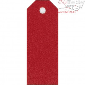 Manilla Tags, red, size 3x8 cm,  220 g, 20pcs