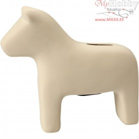 Horse Money Box, H: 14,5 cm, L: 16,5 cm, white, 8pcs