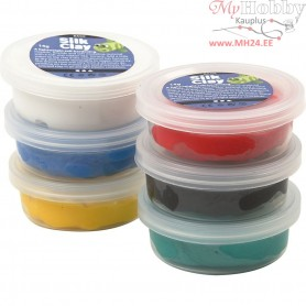Silk Clay®, asstd. colours, standard, 6x14g