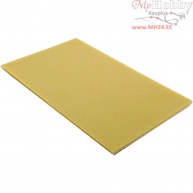 Beeswax Sheets, size 20x33 cm, thickness 2 mm, natural, 1pc