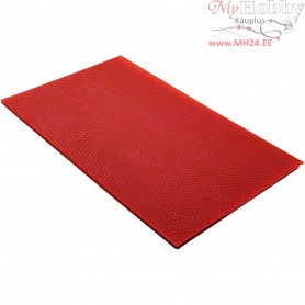 Beeswax Sheets, size 20x33 cm, thickness 2 mm, red, 1pc