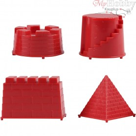 Casting Mould, size 5,5-8,5 cm, castle, 4mixed