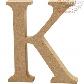 Letter, K, H: 13 cm, thickness 2 cm, MDF, 1pc