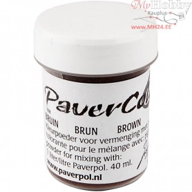 Pavercolor, brown, 40ml