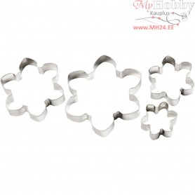 Cookie Cutters, largest size 13,5x13,5 cm, snowflake/flower, 4pcs