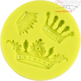 Silicone Mould, size 15x30x55 mm, crown, 3pcs