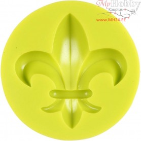 Silicone Mould, size 62 mm, lily, 1pc