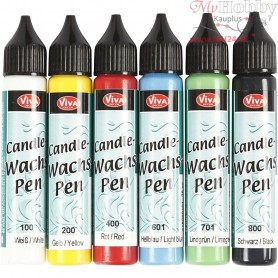 Candle Pen, bold colours, 6x25ml