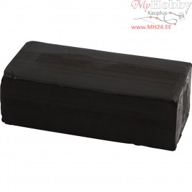 Soft Clay, size 13x6x4 cm, black, 500g