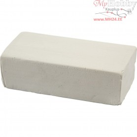 Soft Clay, size 13x6x4 cm, white, 500g