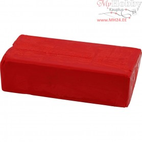Soft Clay, size 13x6x4 cm, red, 500g