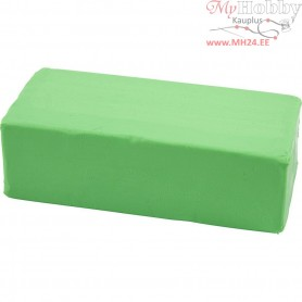 Soft Clay, size 13x6x4 cm, neon green, 500g