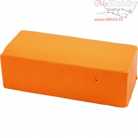 Soft Clay, size 13x6x4 cm, neon orange, 500g