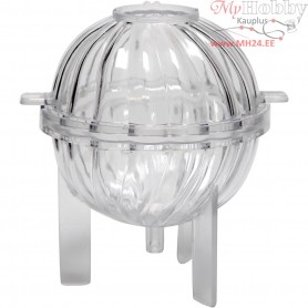 Candle Mould, H: 70 mm, wick size 21 , Spiral sphere, 1pc