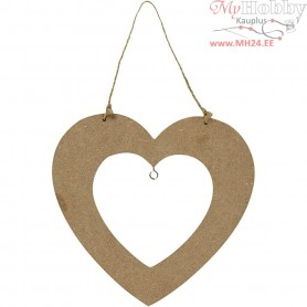 Bird Feeding Heart, size 18,5x19,5 cm, thickness 5 mm, MDF, 1pc