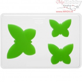 Casting Mould, size 6+8+10 cm, outer size 14,9x22 cm, butterfly, 1pc, depth 9 mm