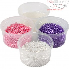 Pearl Clay®,  3x25 g,  38 g, white, purple, pink, 1set