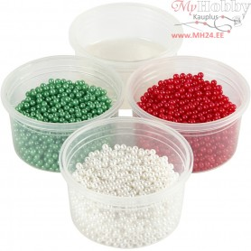Pearl Clay®,  3x25 g,  38 g, green, white, red, 1set