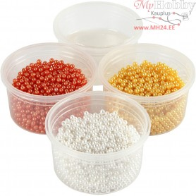 Pearl Clay®,  3x25 g,  38 g, yellow, white, orange, 1set