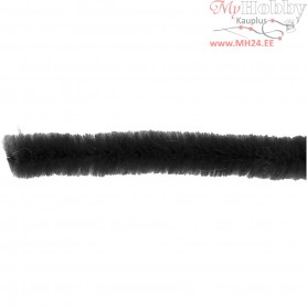 Pipe Cleaners, thickness 6 mm, L: 30 cm, black, 50pcs