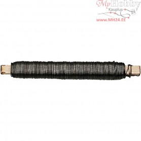 Florist Wire, thickness 0,5 mm, black, 50m