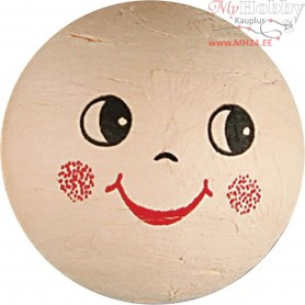 Compressed Cotton Faces, D: 40 mm, cotton, 5pcs