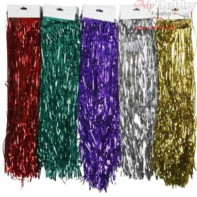 Tinsel, L: 50 cm, W: 3 mm, 75mixed