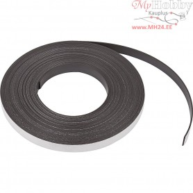 Magnetic Strip, W: 12,5 mm, thickness 1,5 mm, 10m