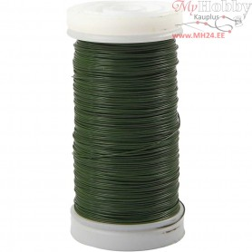 Florist Wire, thickness 0,31 mm,  100 g, green, 160m