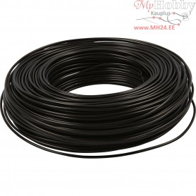 Aluminium Wire, thickness 2,5 mm, black, round, 75m