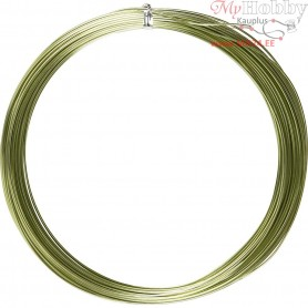 Aluminium Wire, thickness 1 mm, green, round, 16m