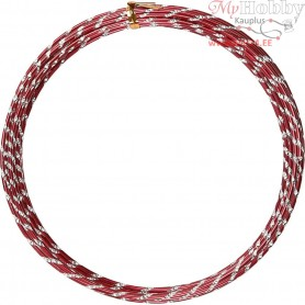 Aluminium Wire, thickness 2 mm, red, diamond-cut, 7m