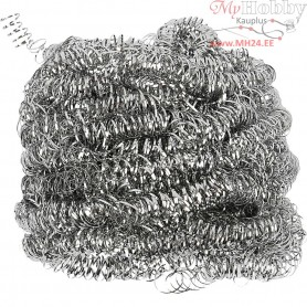 Curly Steel Scouring Sponges, 30pcs