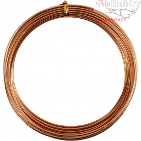 Aluminium Wire, thickness 2 mm, copper, round, 10m