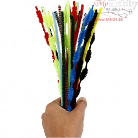Pipe Cleaners, thickness 5-12 mm, L: 30 cm, asstd colours, 30mixed