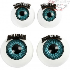 Big Eyes, size 12+17 mm, 100mixed