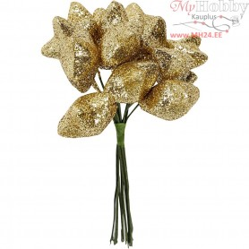 Star, D: 25 mm, gold, 12pcs