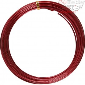 Aluminium Wire, thickness 2 mm, red, round, 10m