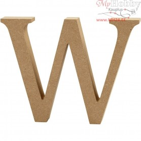 Letter, W, H: 13 cm, thickness 2 cm, MDF, 1pc