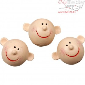 Smiley Head, D: 17 mm, 4pcs