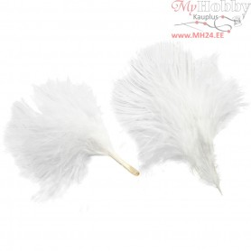 Turkey down, L: 8-10 cm, white, 3g