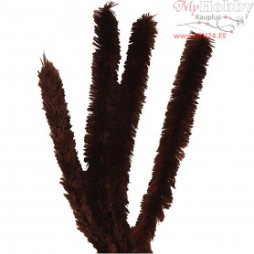 Pipe Cleaners, thickness 30 mm, L: 40 cm, brown, 4pcs