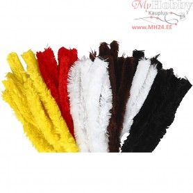 Pipe Cleaners, thickness 30 mm, L: 40 cm, asstd. colours, 48pcs