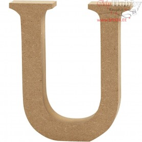 Letter, U, H: 13 cm, thickness 2 cm, MDF, 1pc