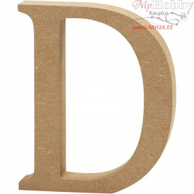 Letter, D, H: 13 cm, thickness 2 cm, MDF, 1pc